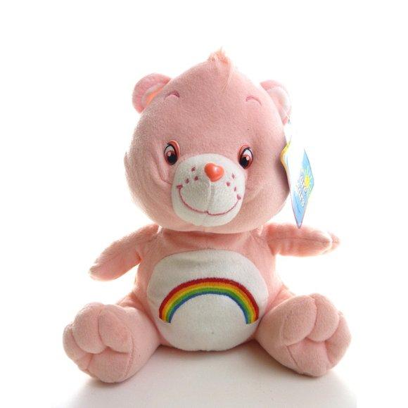 Care Bear Plush 2003 Pink Rainbow Cheer 11 inch